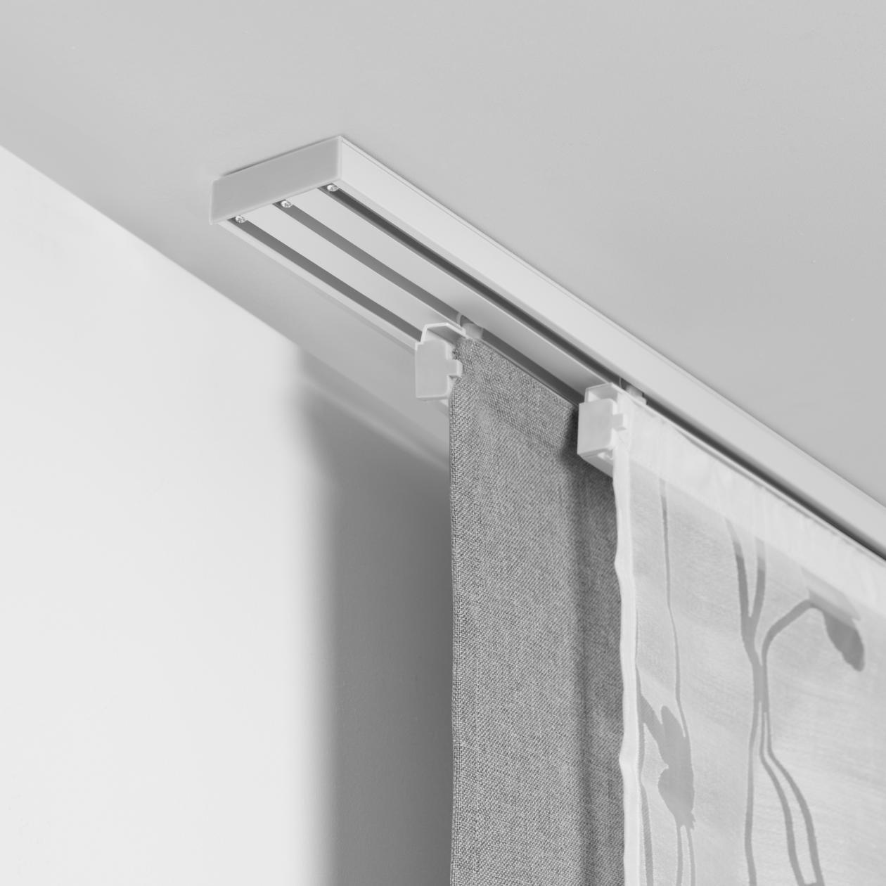vorhangschiene f r fl chenvorhang 3 l ufig 160 cm lichblick shop. Black Bedroom Furniture Sets. Home Design Ideas