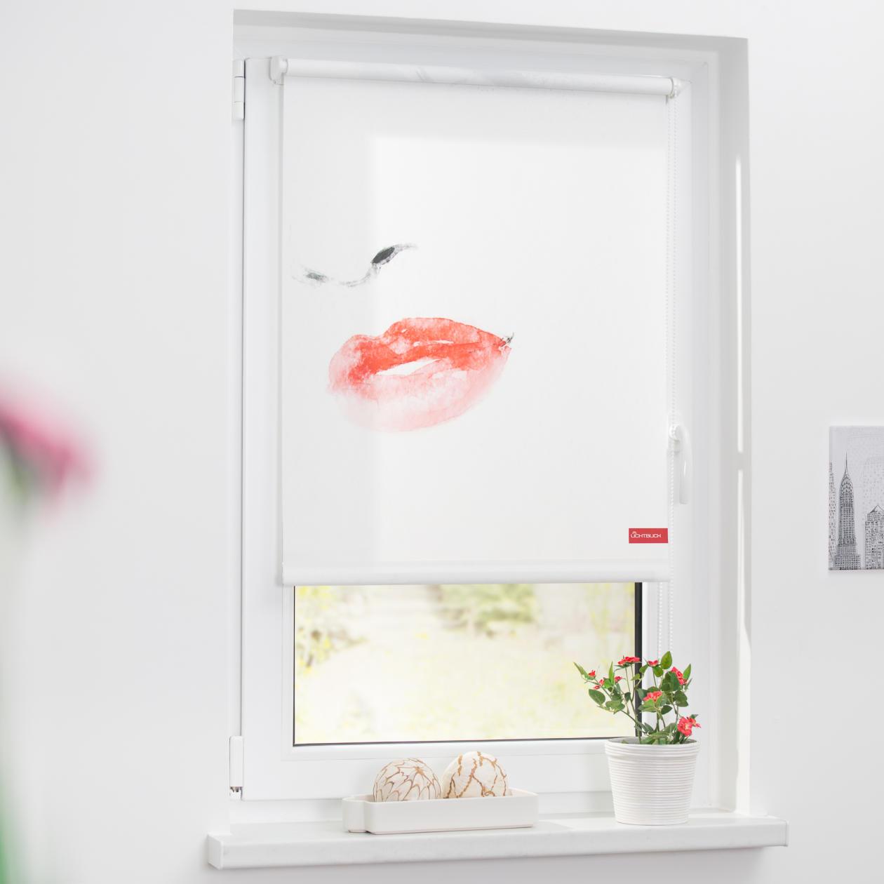 rollo klemmfix ohne bohren blickdicht face wei lichblick shop. Black Bedroom Furniture Sets. Home Design Ideas