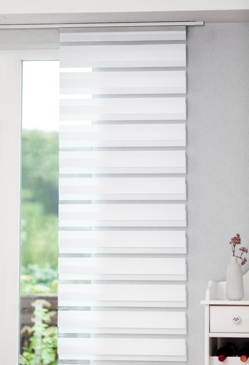 schiebevorhang duo blickdicht doppelrollo funktion lichblick shop. Black Bedroom Furniture Sets. Home Design Ideas
