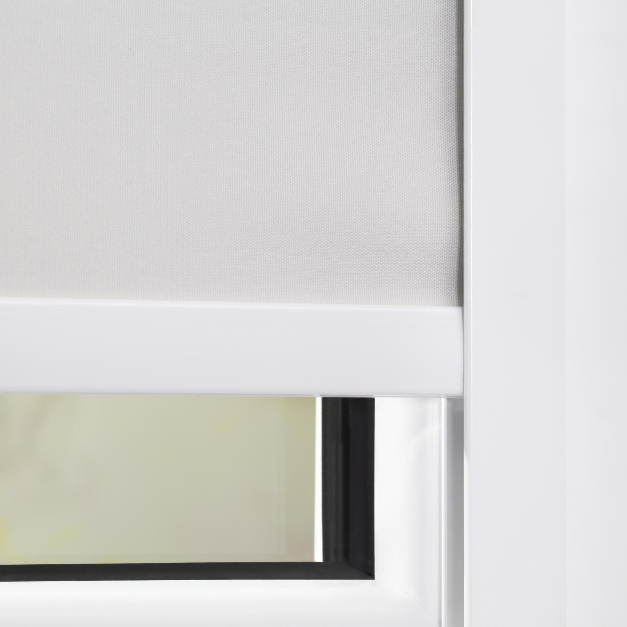 lichtblick seitenprofil klebfix f r thermo rollo mit kassette wei verdunkelun ebay. Black Bedroom Furniture Sets. Home Design Ideas