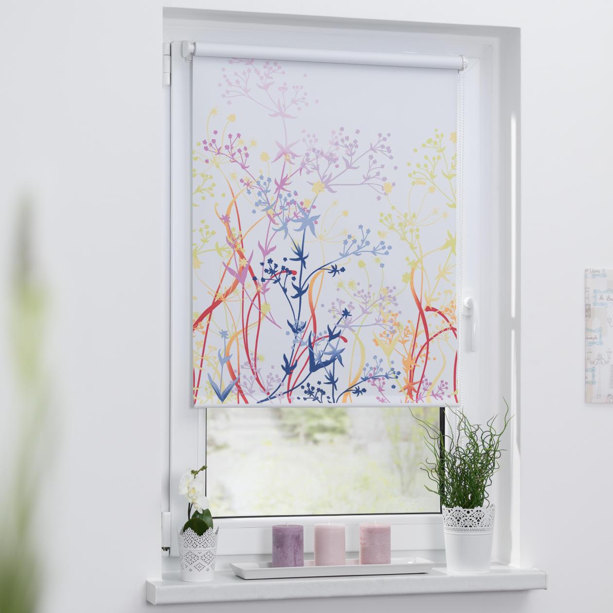 rollo klemmfix ohne bohren verdunkelung flower power lichblick shop. Black Bedroom Furniture Sets. Home Design Ideas