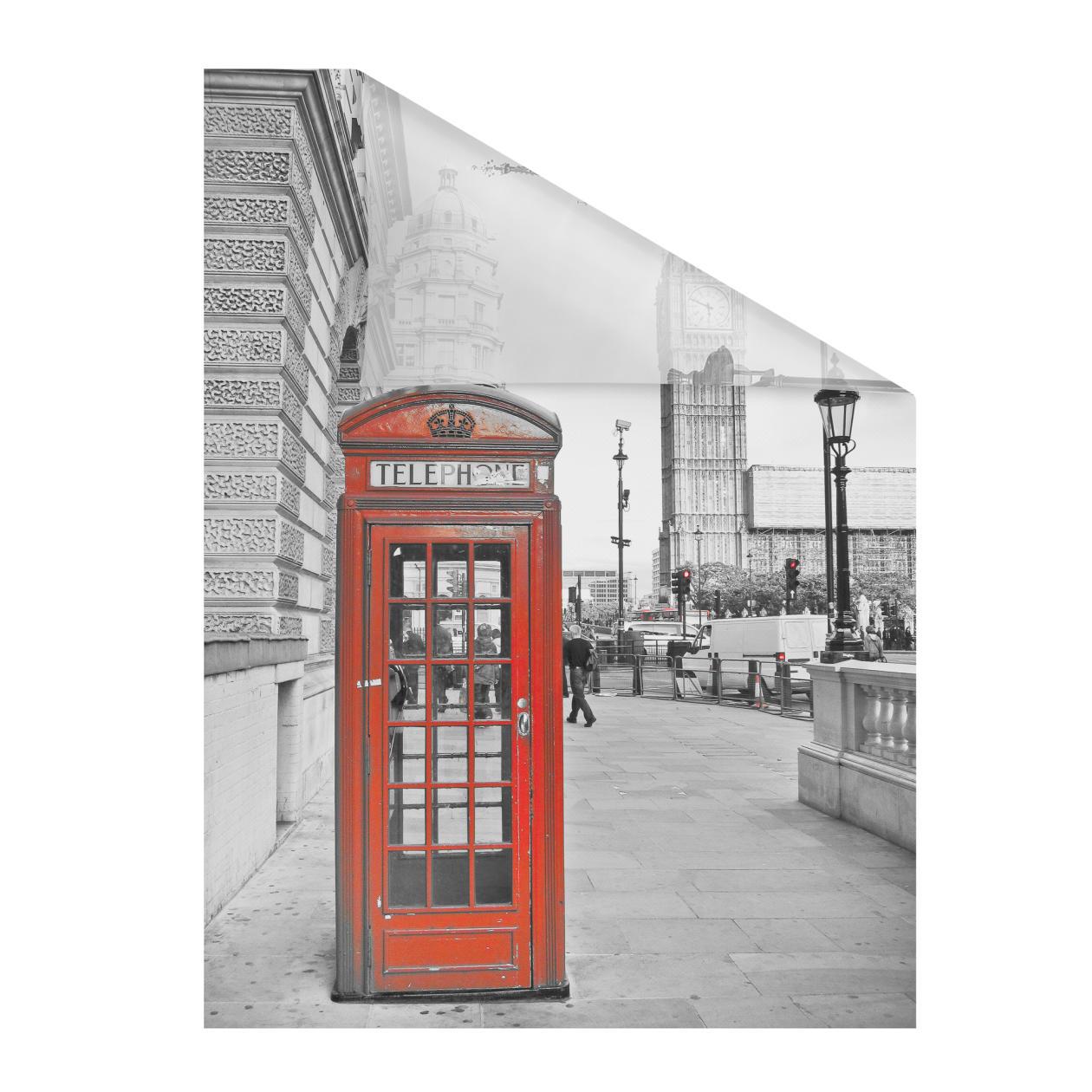 fensterfolie selbstklebend sichtschutz london rot lichblick shop. Black Bedroom Furniture Sets. Home Design Ideas