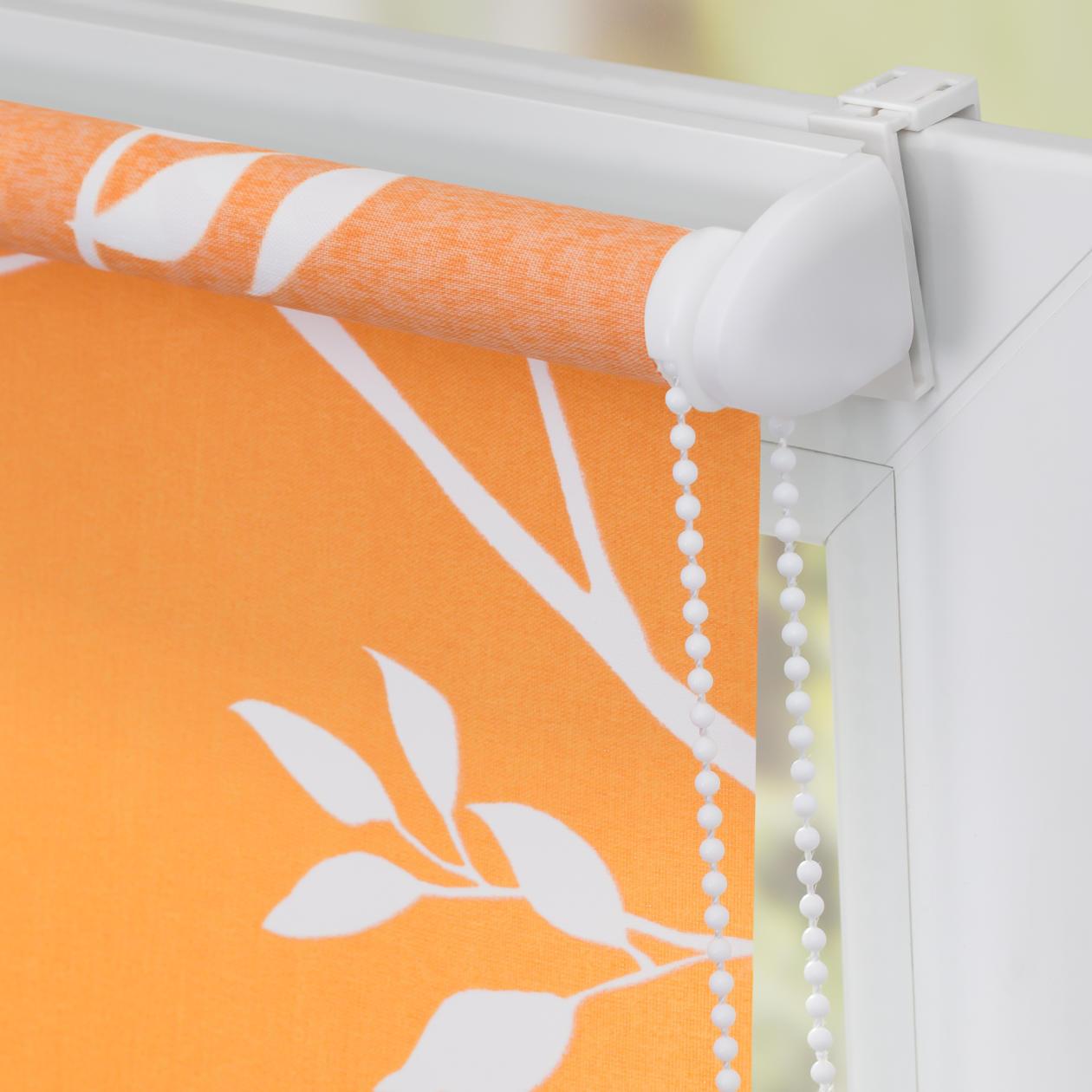 rollo klemmfix ohne bohren blickdicht ficus orange wei lichblick shop. Black Bedroom Furniture Sets. Home Design Ideas