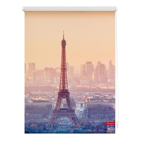 Beliebt Rollo Klemmfix, ohne Bohren, blickdicht, Eiffelturm - Orange CT06