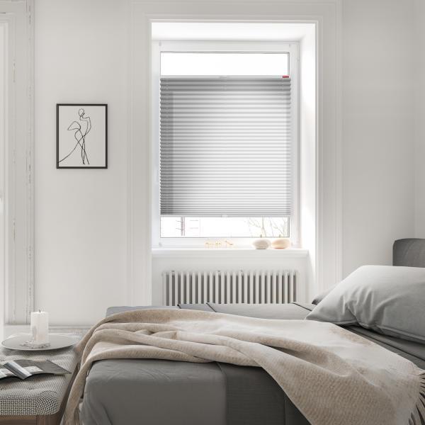 plissee klemmfix ohne bohren verspannt blickdicht hitzeschutz lichblick shop. Black Bedroom Furniture Sets. Home Design Ideas