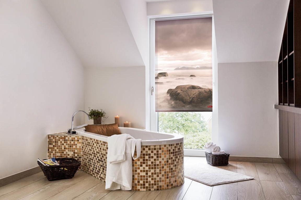 rollo klemmfix ohne bohren blickdicht stone grau rot lichblick shop. Black Bedroom Furniture Sets. Home Design Ideas