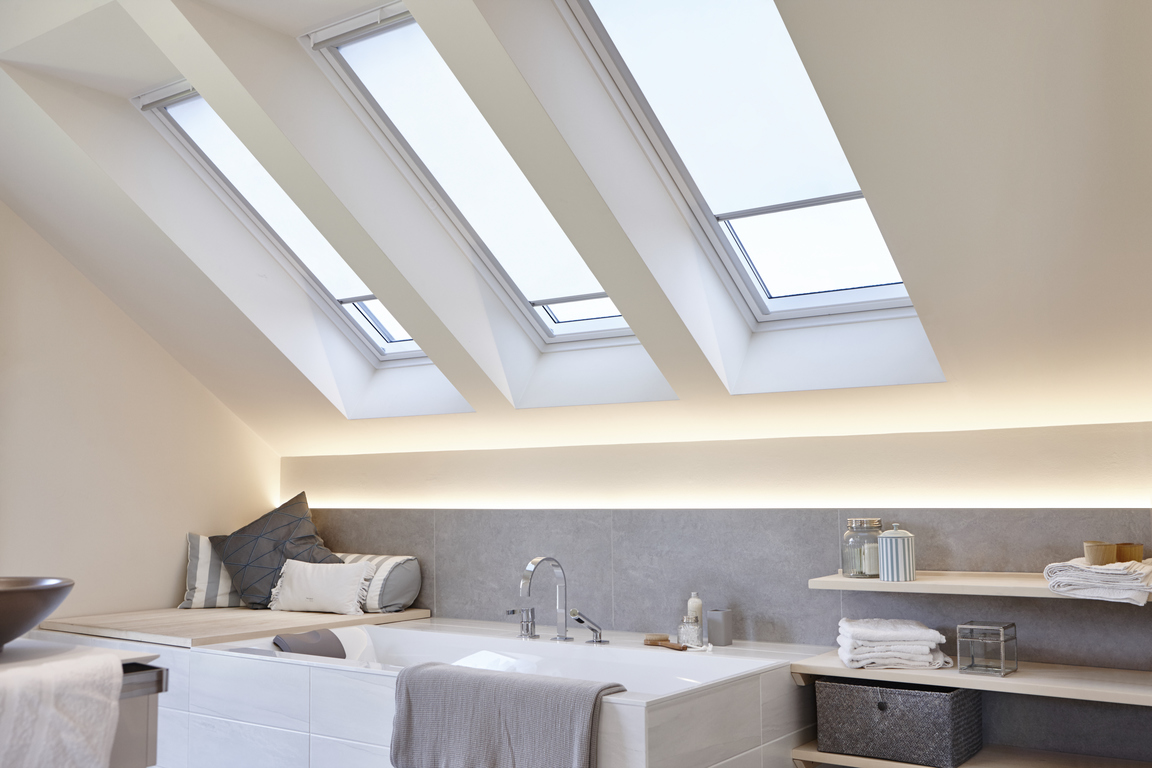 Velux Dachfensterrollo Skylight in Weiss