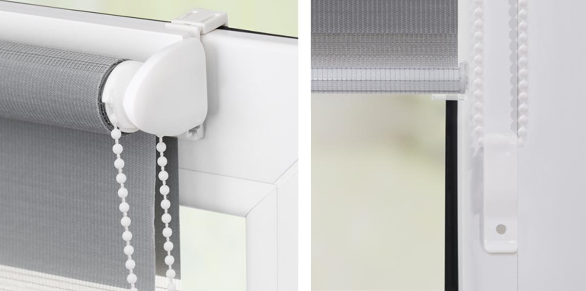 klemmtr ger und zubeh r montage set f r klemmfix duo rollo kdr lichblick shop. Black Bedroom Furniture Sets. Home Design Ideas